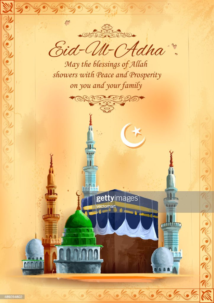 Eid ul Adha, Happy Bakra Id background with Kaaba