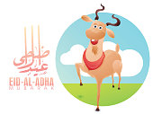Eid-Al-Adha celebration with goat.