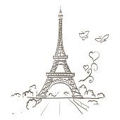 Free eiffel tower clipart and vector graphics clipart travel and tourism infographic eiffel tower heart frame vector illustration thecheapjerseys Gallery