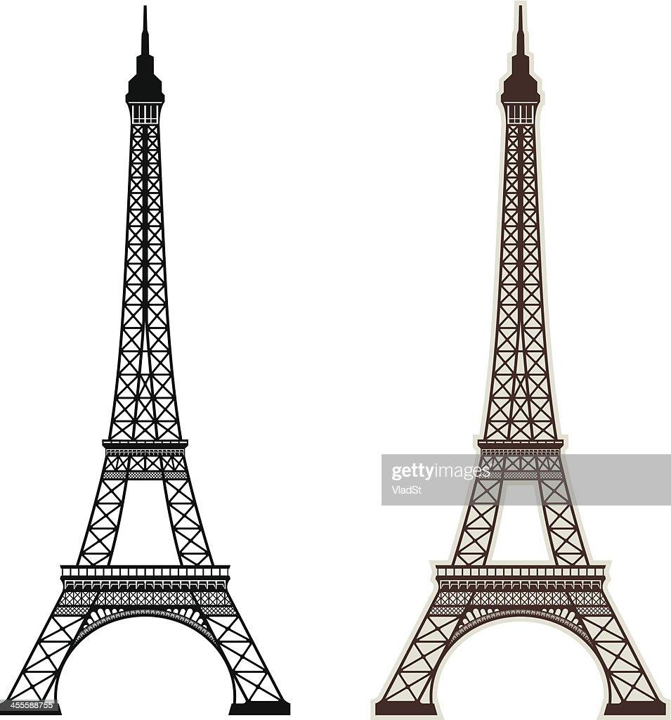 Paris Illustration: Eiffel Tower Paris Vector Art
