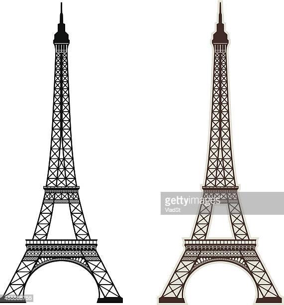 eiffel tower paris - eiffel tower paris stock illustrations