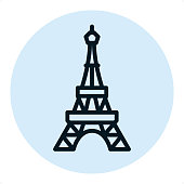 Eiffel tower - Pixel Perfect Single Line Icon