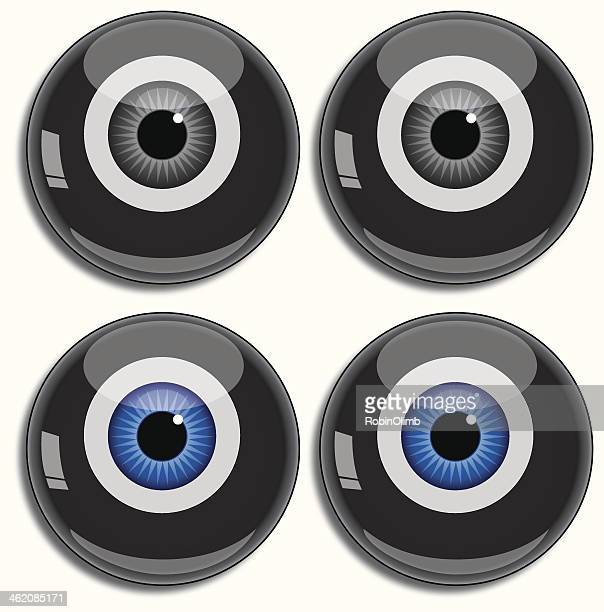 Eight ball eyes