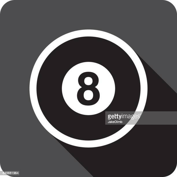 Eight Ball Symbol Silhouette