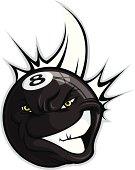 Eight Ball Mascot