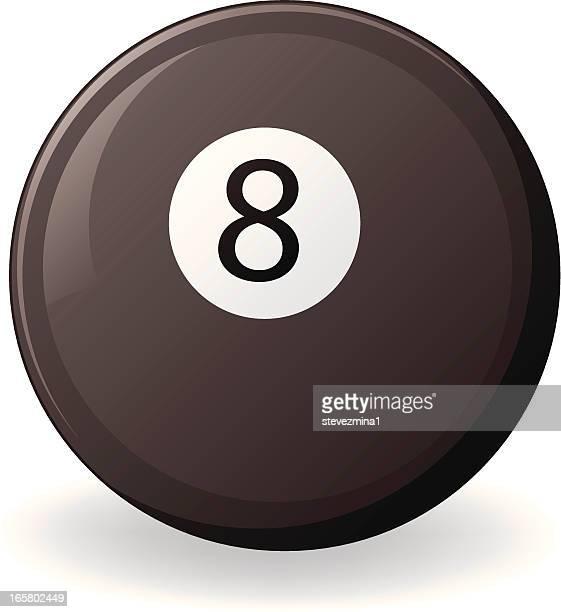 eight ball - pool ball stock illustrations