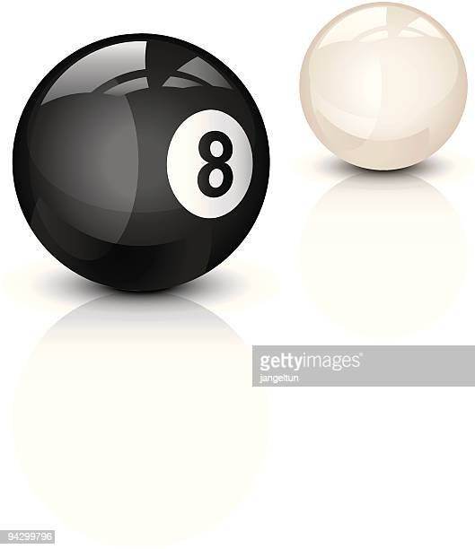 eight ball - pool ball stock illustrations, clip art, cartoons, & icons