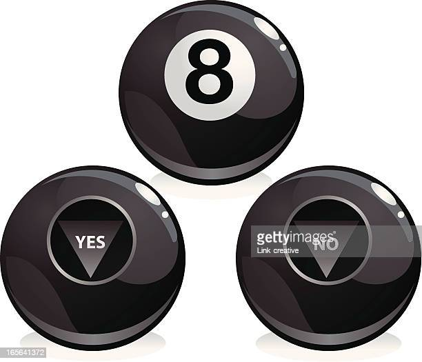 eight balls - pool ball stock illustrations, clip art, cartoons, & icons