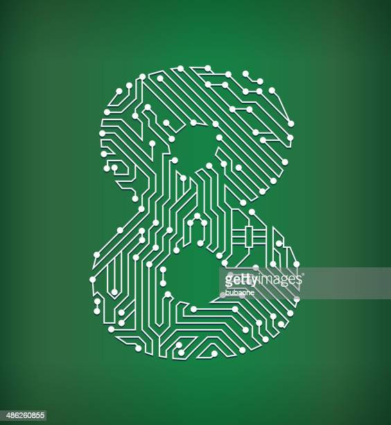 eight circuit board royalty free vector art background - 8 9 years stock illustrations, clip art, cartoons, & icons