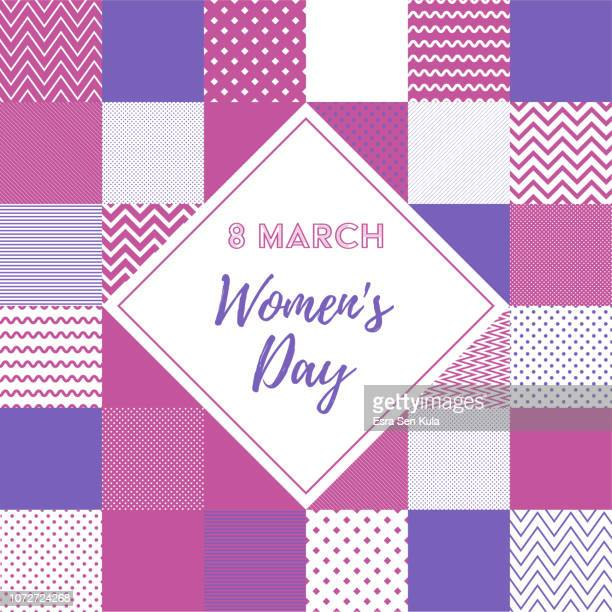 stockillustraties, clipart, cartoons en iconen met 8 maart vrouwendag web banner - internationale vrouwendag