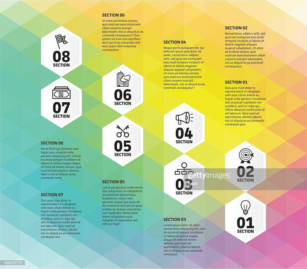 Eight Step Business Infographic