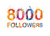 eight thousand (8000) followers