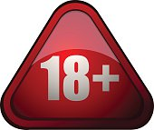 Eighteen Plus Age Restriction Sign.