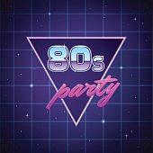 Eighties Party Background