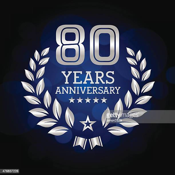 Eighty Years Anniversary emblem