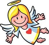 Ein Engel fliegt.