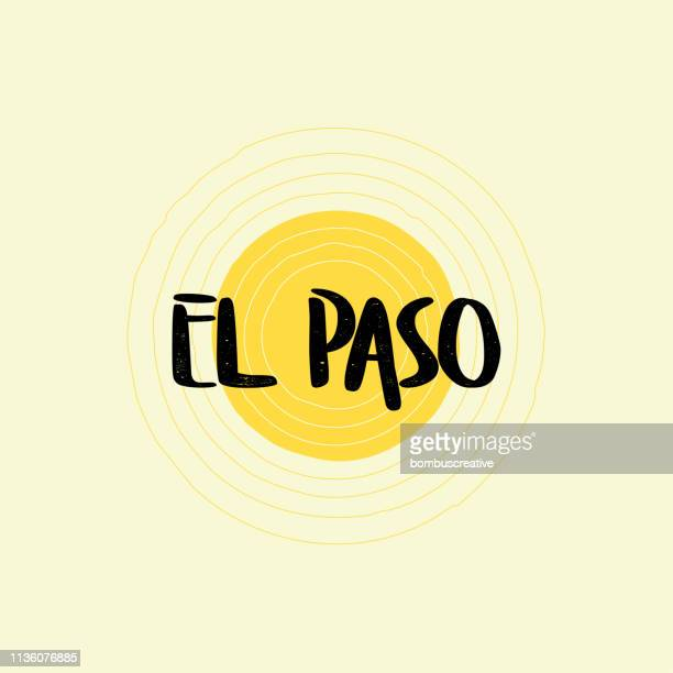 el paso lettering design - canary islands stock illustrations, clip art, cartoons, & icons