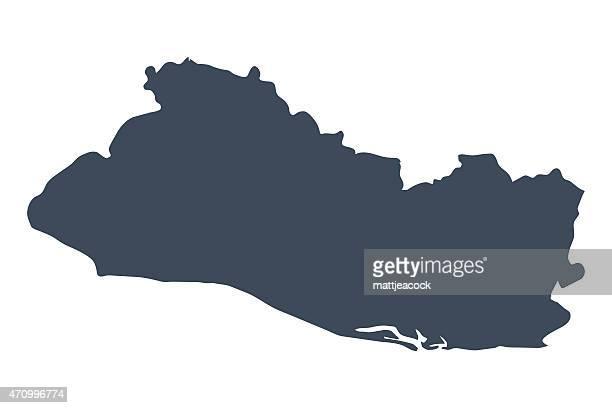 el salvador country map - el salvador stock illustrations