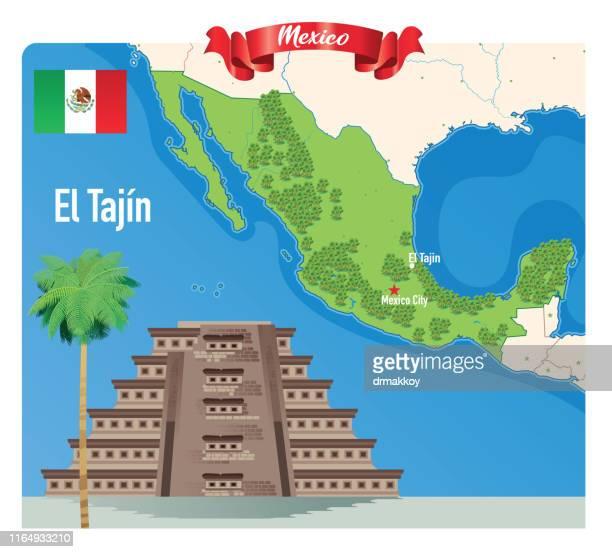 ilustrações, clipart, desenhos animados e ícones de el tajin, pirâmide méxico de papantla - pinata