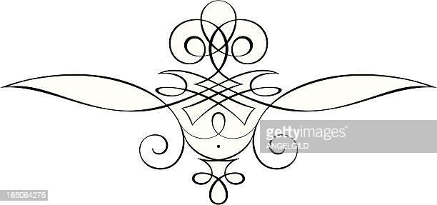 Elaborate Pinstriped Scrollwork