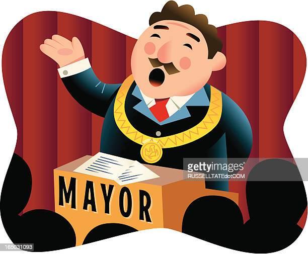 illustrazioni stock, clip art, cartoni animati e icone di tendenza di sindaco - sindaco