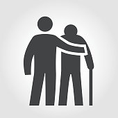 Elderly Assistance Icon - Iconic Series