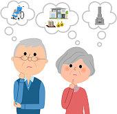 Elderly couple,Life plan