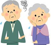 Elderly couple,Trouble