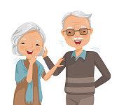 elderly laughing