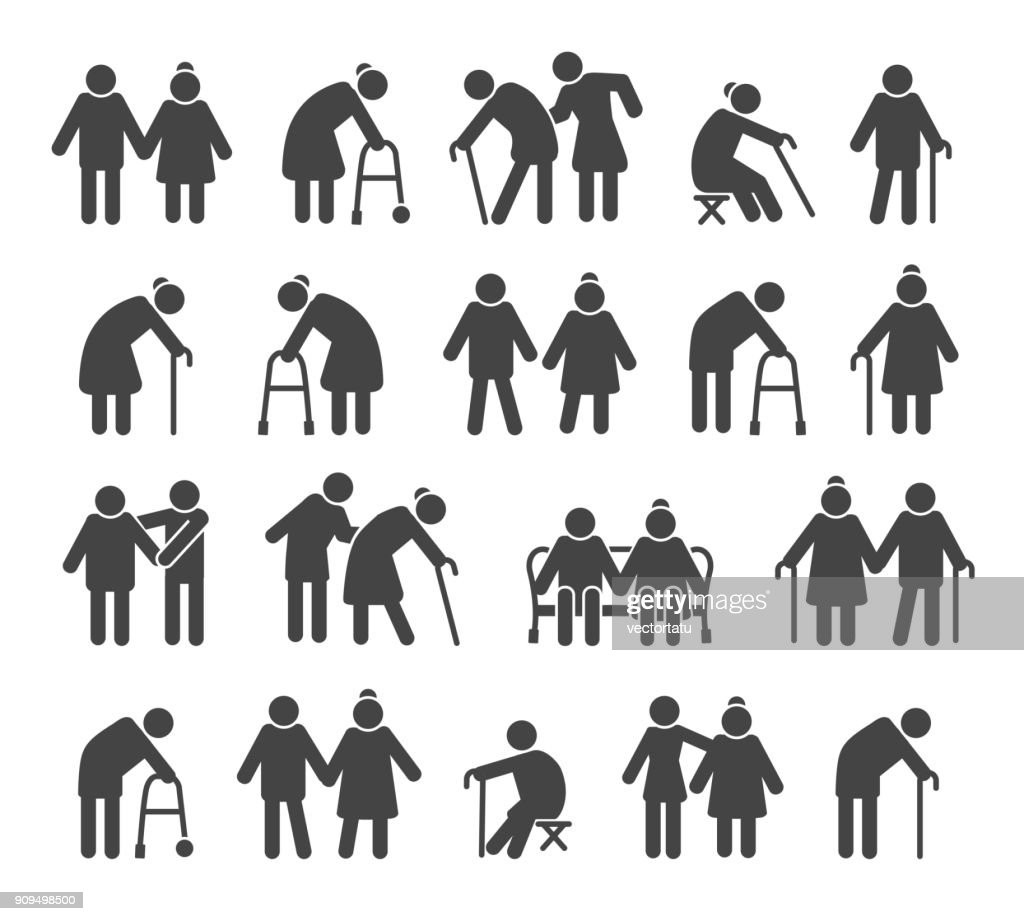 Elderly people icons
