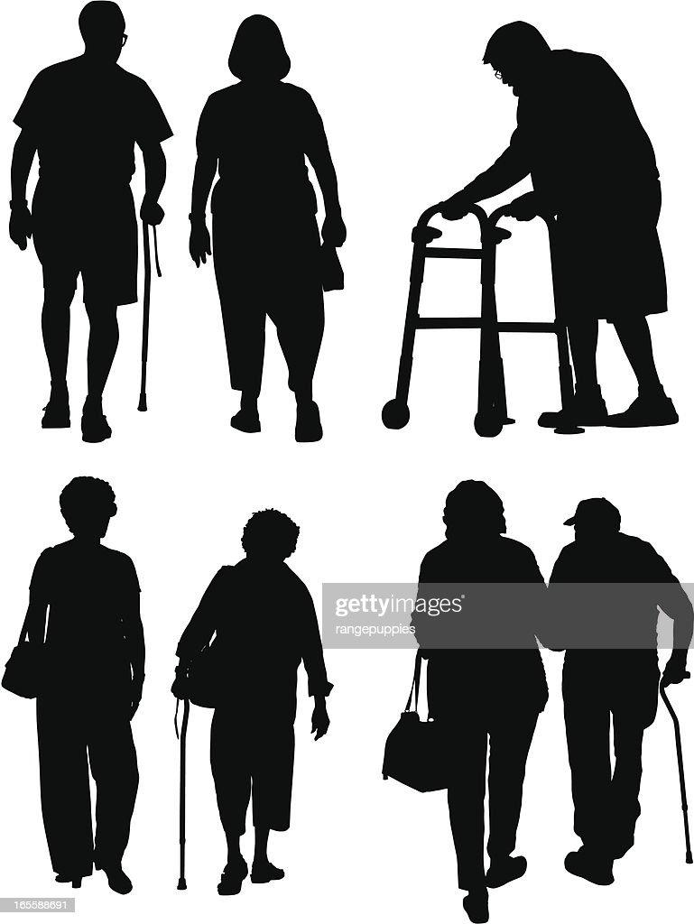 お年寄り : ストックイラストレーション