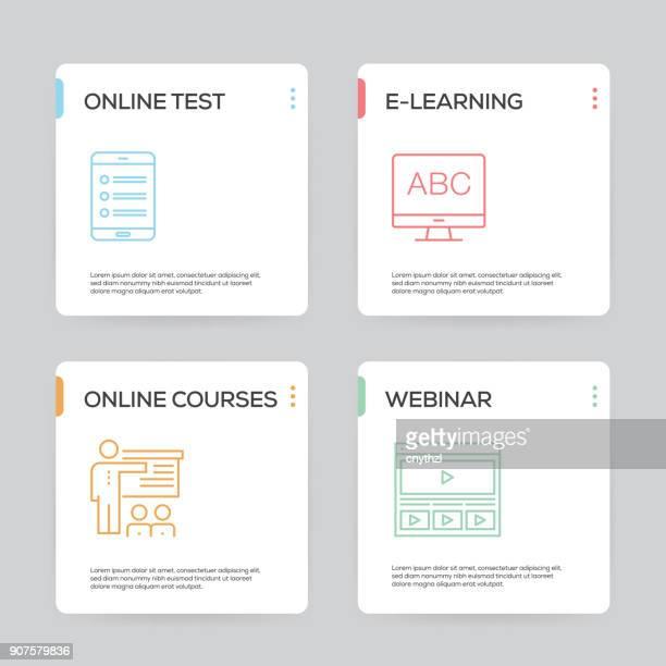 e-learning-infografik design-vorlage - literatur stock-grafiken, -clipart, -cartoons und -symbole