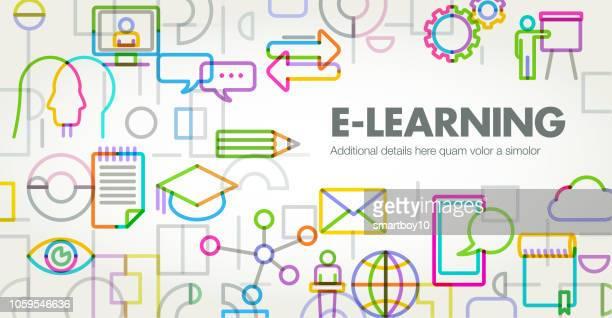 e ラーニング - ウェブ2.0点のイラスト素材/クリップアート素材/マンガ素材/アイコン素材