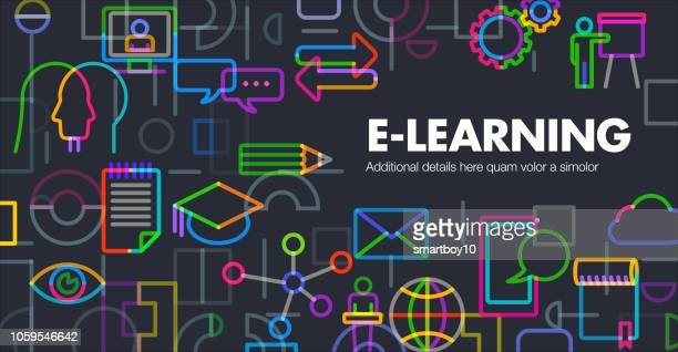e-learning - learning stock illustrations