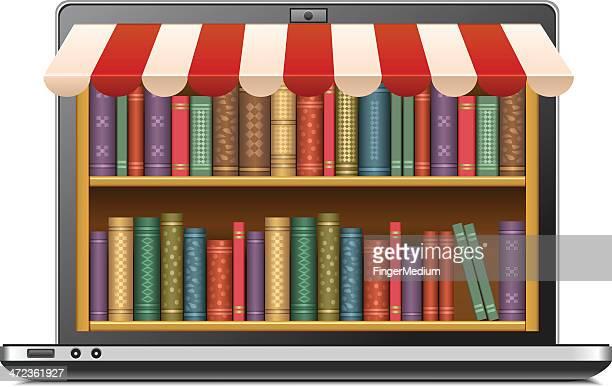 ilustrações, clipart, desenhos animados e ícones de e educação - livraria