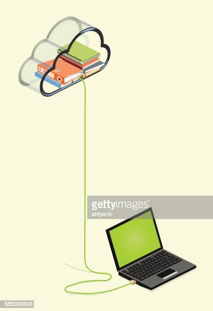 e-learning - ethernet cable stock illustrations, clip art, cartoons, & icons