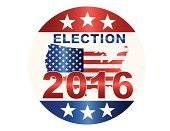 Election 2016 Button Illustration