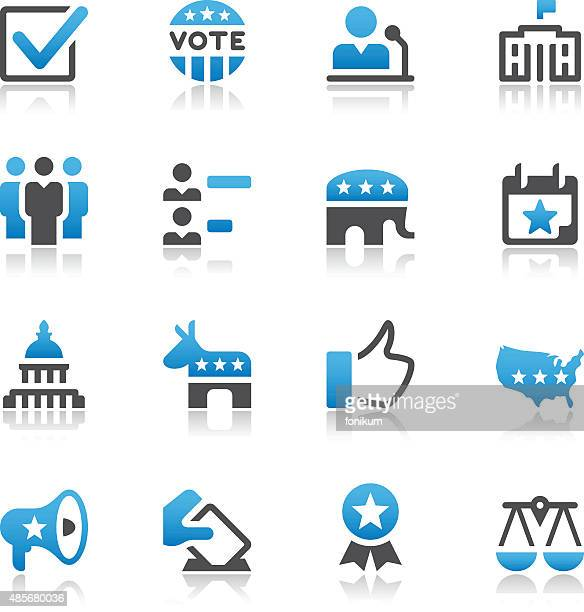 election and politics icons - white house washington dc stock illustrations, clip art, cartoons, & icons