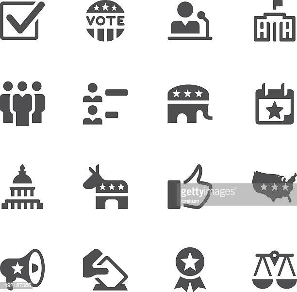 election and politics icons - political party stock illustrations