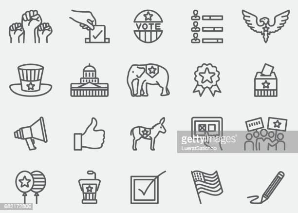 Election and Politics Line Icons | EPS 10