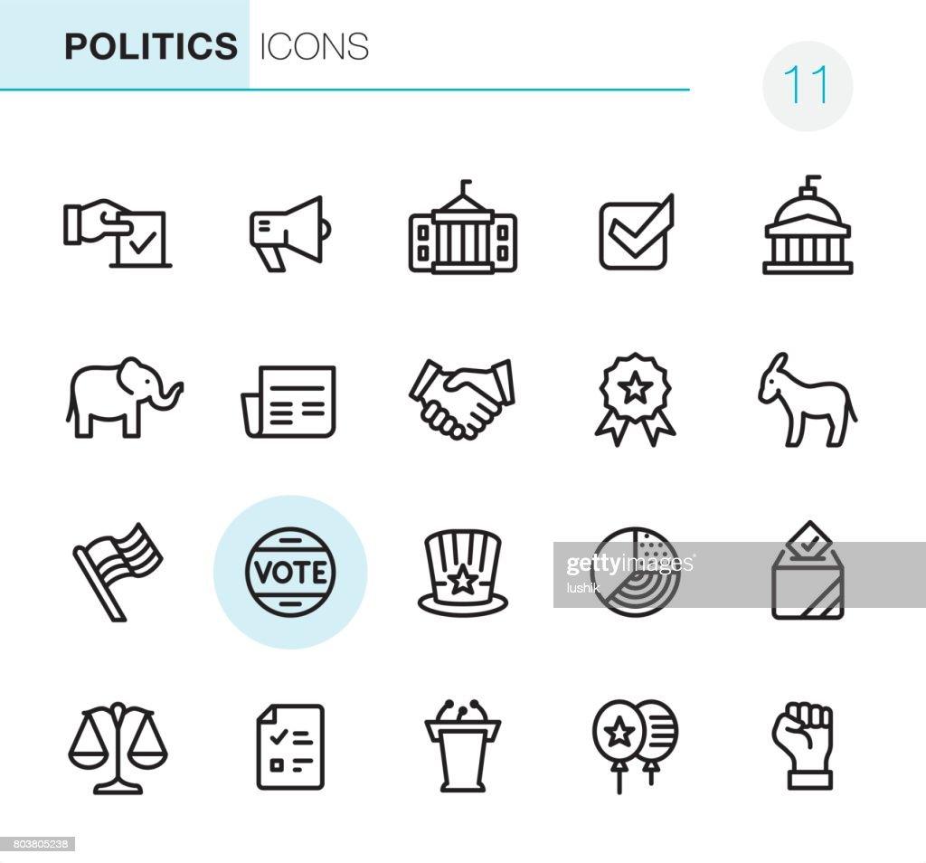 Wahlen und Politik - Perfect Pixel icons : Stock-Illustration