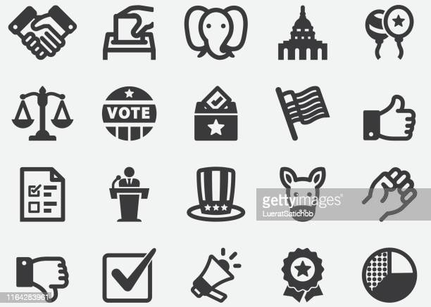 election and politics silhouette icons - democratic party usa stock illustrations