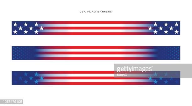 ilustraciones, imágenes clip art, dibujos animados e iconos de stock de ilustración de acciones de usa election banners. ilustración vectorial de bandera de ee. uu. - usa