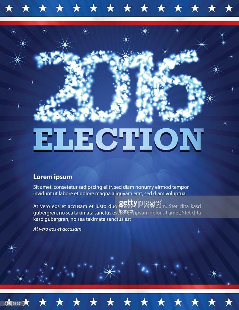 USA 2016 election design template on dark blue background