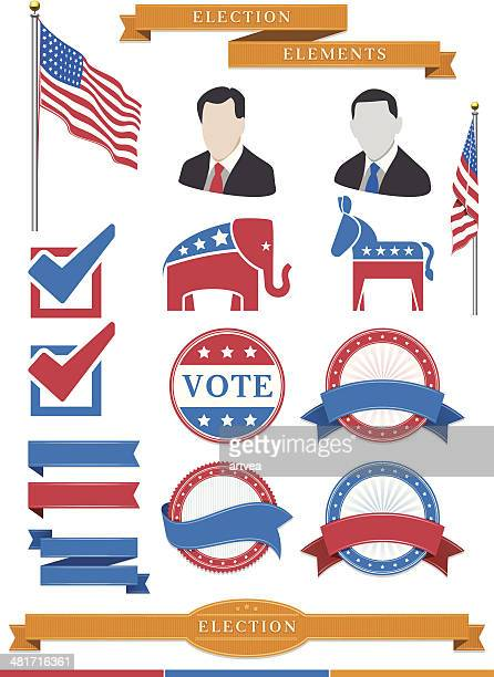 election elements - us republican party stock illustrations, clip art, cartoons, & icons