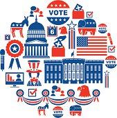US Election Icon Set
