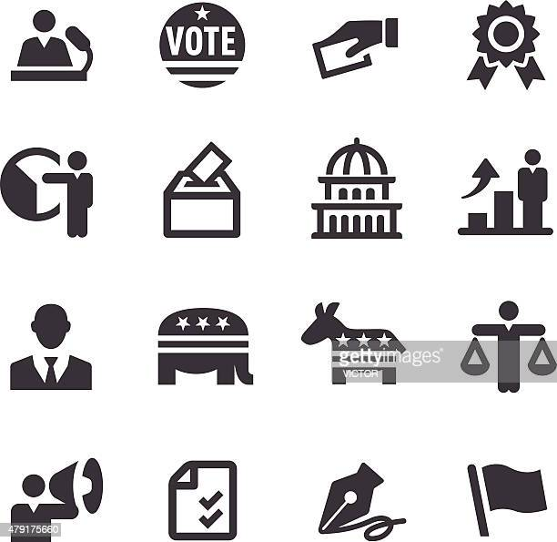 election icons - acme series - 2015 stock illustrations