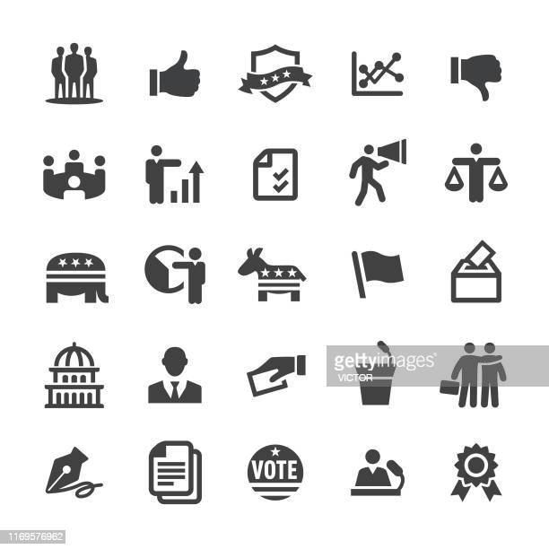 election icons - smart series - politician stock illustrations