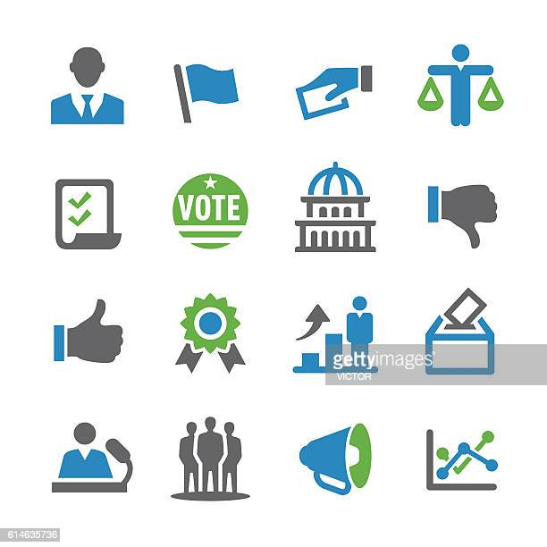 election icons - spry series - political rally stock illustrations, clip art, cartoons, & icons