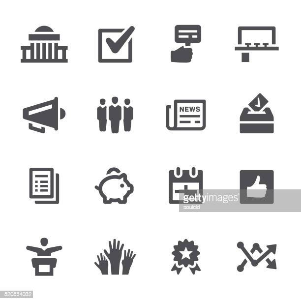 election icons - human rights stock illustrations